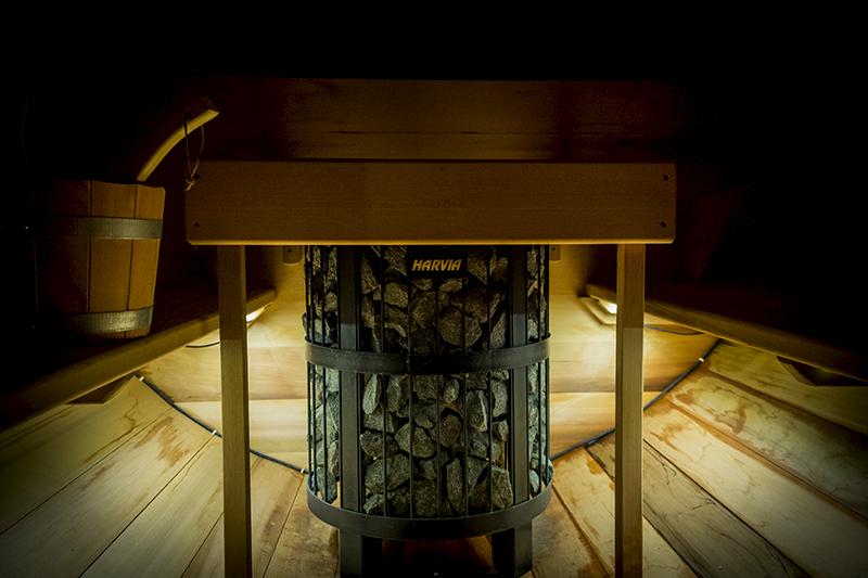 le poêle du sauna