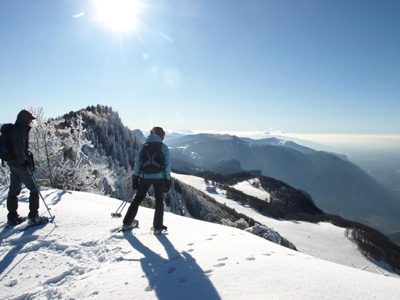 Vue sur le Vercors Sud et la Vallée du Rhône