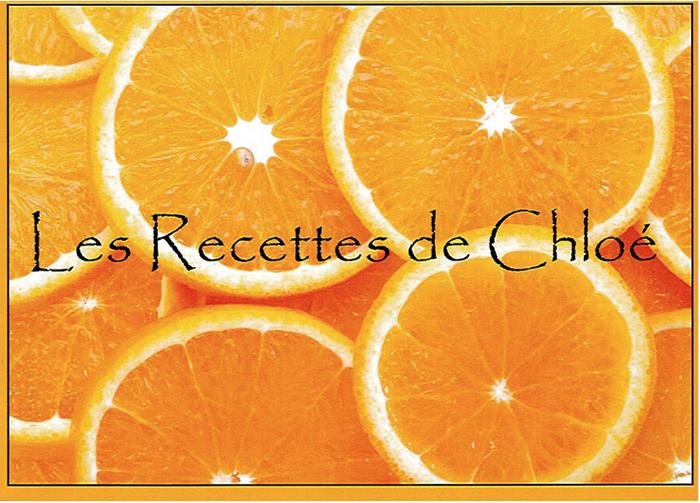 recettes de chloé - livre de cuisine ARCANSON